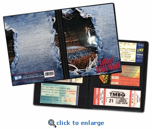 Concert Ticket Album - A Photo Album Designed to Hold Ticket Stubs