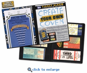 Create-Your-Own-Cover Ticket Album - A Photo Album Designed to Hold Ticket Stubs