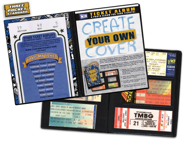 create your own cover ticket album a photo album designed to hold