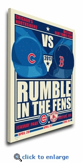 Cubs vs Red Sox 2017 Battle in the Fens Limited Edition Sports Propaganda Canvas Print