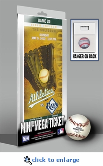 Dallas Braden Perfect Game Mini-Mega Ticket - Oakland Athletics
