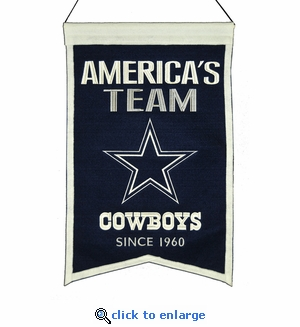 Dallas Cowboys Franchise Wool Banner (14 x 22)