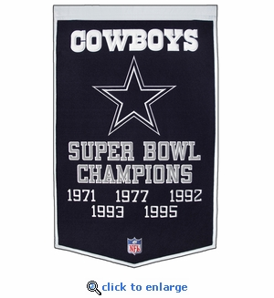 Dallas Cowboys Super Bowl Dynasty Wool Banner (24 x 36)