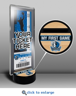 Dallas Mavericks My First Game Ticket Display Stand