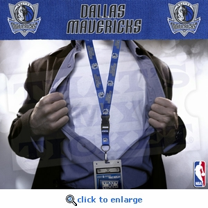 Dallas Mavericks NBA Lanyard Key Chain and Ticket Holder - Blue