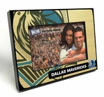Dallas Mavericks Black Wood Edge 4x6 inch Picture Frame