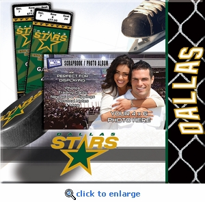Dallas Stars 8x8 Scrapbook - Ticket & Photo Album