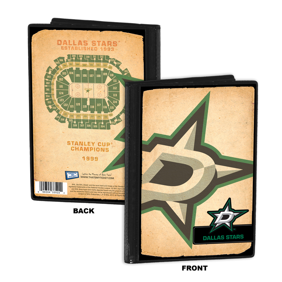Dallas stars personalized canvas birth announcement baby gift dallas stars 4x6 photo album brag book negle Gallery
