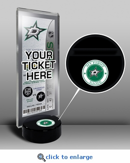 Dallas Stars My First Game Hockey Puck Ticket Stand