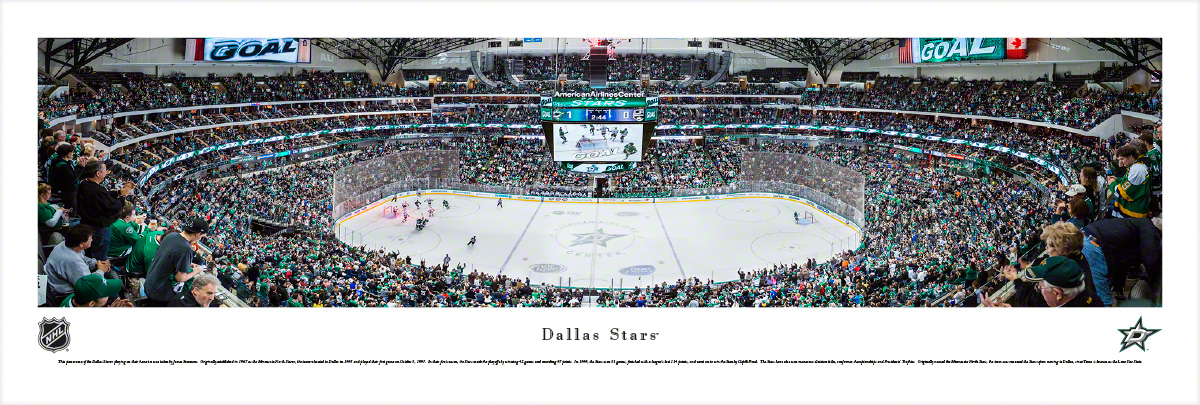 Dallas Stars Panoramic Photo 135 X 40