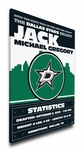 Dallas Stars Personalized Canvas Birth Announcement - Baby Gift