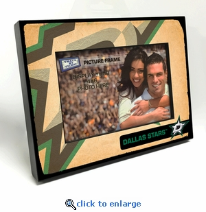Dallas Stars Vintage Style Black Wood Edge 4x6 inch Picture Frame
