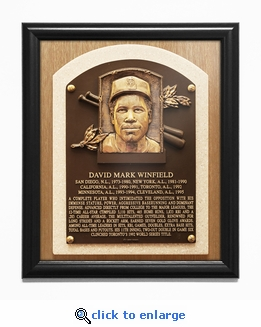 Dave Winfield Baseball Hall of Fame Plaque Framed Print - San Diego Padres