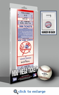 David Cone Perfect Game Mini-Mega Ticket - New York Yankees