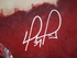 David Ortiz Autographed Hand Embellished Artist Recreation on Canvas by Justyn Farano - Red Sox