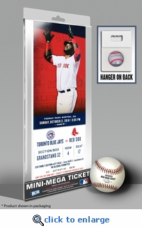 David Ortiz Final Regular Season Game (10/2/16) Mini-Mega Ticket - Red Sox