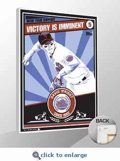 David Wright Topps Sports Propaganda Canvas Print - Mets