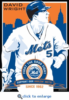 David Wright Sports Propaganda Poster - New York Mets