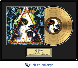 Def Leppard - Hysteria Framed Gold Record, LE 2,500