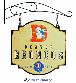 Denver Broncos 16 X 16 Metal Tavern / Pub Sign