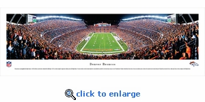 Denver Broncos - End Zone - Panoramic Photo (13.5 x 40)