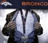 Denver Broncos NFL Lanyard Key Chain and Ticket Holder - Navy