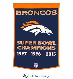 Denver Broncos Super Bowl Dynasty Wool Banner (24 x 36)
