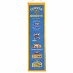 Denver Nuggets Heritage Wool Banner (8 x 32)