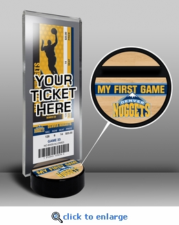 Denver Nuggets My First Game Ticket Display Stand