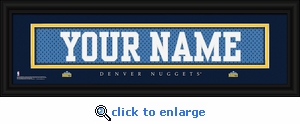 Denver Nuggets Personalized Stitched Jersey Nameplate Framed Print