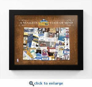 Denver Nuggets State of Mind Framed Print - Colorado