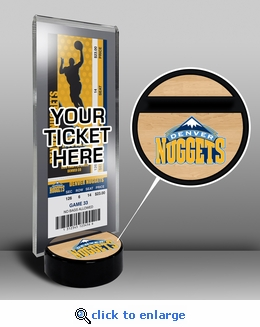 Denver Nuggets Ticket Display Stand