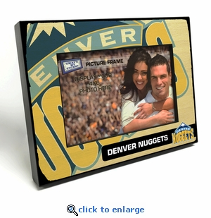 Denver Nuggets Black Wood Edge 4x6 inch Picture Frame