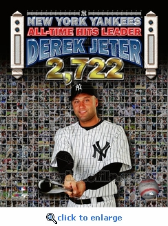Derek Jeter Record Hits Collage 8x10 Photo - New York Yankees
