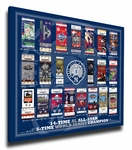 Derek Jeter Retirement Tickets to History Canvas Print - New York Yankees