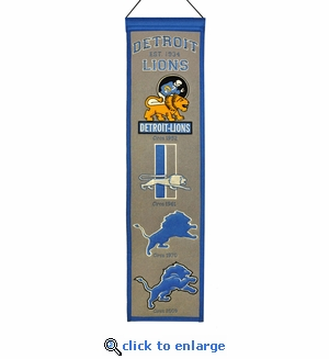 Detroit Lions Heritage Wool Banner (8 x 32)