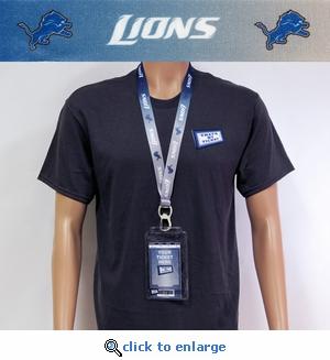 Detroit Lions Lanyard Key Chain Bottle Opener and Ticket Holder
