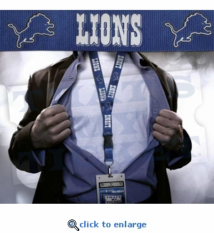 Detroit Lions NFL Lanyard Key Chain and Ticket Holder