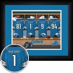 Detroit Lions Personalized Locker Room Print