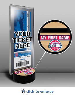 Detroit Pistons My First Game Ticket Display Stand