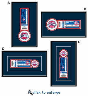 Detroit Pistons Single Ticket Frame