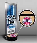 Detroit Pistons Ticket Display Stand