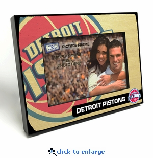 Detroit Pistons Black Wood Edge 4x6 inch Picture Frame
