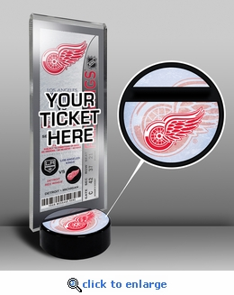 Detroit Red Wings Hockey Puck Ticket Display Stand