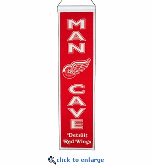 Detroit Red Wings Man Cave Wool Banner (8 x 32)