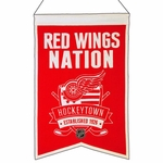 Detroit Red Wings Nations Wool Banner (14 x 22)
