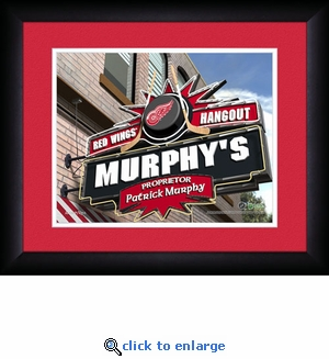 Detroit Red Wings Personalized Sports Room / Pub Print