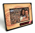 Detroit Red Wings Personalized Vintage Style Black Wood Edge 4x6 inch Picture Frame