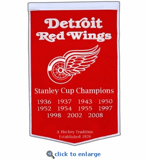 Detroit Red Wings Stanley Cup Dynasty Wool Banner (24 x 36)