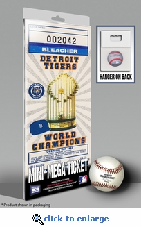 Detroit Tigers 1985 Opening Day/Banner Raising Mini-Mega Ticket
